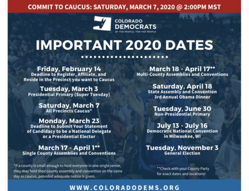Important 2020 Election Dates